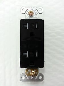 (100 pc) Decorator Duplex Receptacles 20 Amp Tamper Resistant BLACK 20A Decora