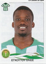 N°246 EGUTU OLISEH NIGERIA PANTHRAKIKOS STICKER PANINI GREEK GREECE LEAGUE 2010