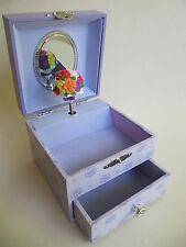 süßes Schmuckkästchen mit Schublade und Spieluhr: Blumenstrauß, tolles Geschenk
