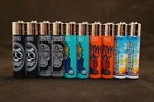 10 pcs New Refillab 00004000 le Clipper Lighters 8 pcs Sculp & 2 pcs Element Design