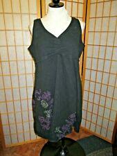 Aventura Clothing Organic Cotton Dress black XL embroidered boho sundress summer