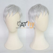 Overwatch OW Soldier 76 Sliver White Cosplay Short Wig Hair + TRACK +Wig CAP