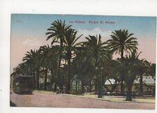 Las Palmas Parque St Helma Spain Vintage Postcard Tram 679b