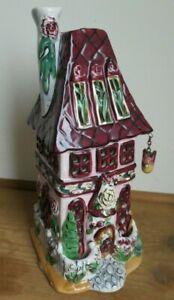 Blue Sky Ceramic -Heather Goldminc USA  'January Sings' Tea light house Ornament