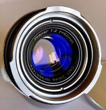 Carl Zeiss Contarex Black Planar 50mm F2 Bulleye