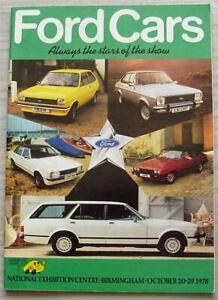 FORD CAR RANGE Sales Brochure Sep/Oct 1978 #FA221/41 FIESTA Capri RS 2000 CUSTOM