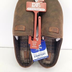 DF by Dearfoams Mountain Clog Slippers with Memory Foam Size L(11-12) NWT