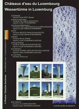 Luxembourg 2019 Mnh - Watertowers of Luxembourg - sheetlet of 8 stamps