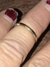 VINTAGE 14K Y GOLD PATTERN WEDDING BAND RING SZ 4.5