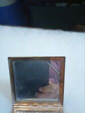 New listing Vintage Elgin American Gold Toned Etched Floral Powder Compact Makeup