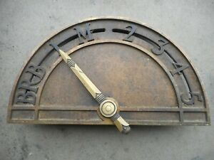 ANTIQUE BRONZE ELEVATOR FLOOR INDICATOR
