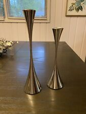 Robert Welch ARDEN Set of Two (2) Candle Holder Stainless Steel 2 Sizes Modern
