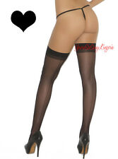 """Plus Size SHEER BACK SEAM Stockings NYLON Top stretches 26"""" for GarterBelt QUEEN"""