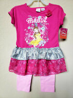*NWT - DISNEY - TODDLER GIRL'S SS TUNIC SET - 3T