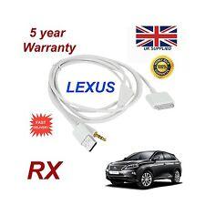 LEXUS RX For Apple iPhone 3GS 4 4S iPod USB & Aux Audio Cable white