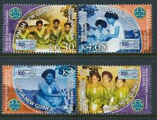 2010 PAPUA NEW GUINEA GIRL GUIDES CENTENARY SET OF 4 FINE MINT MNH