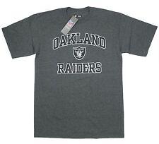 Raiders Medium T-Shirt Oakland NFL Football Heather Charcoal emblem