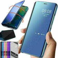 Pour Samsung Galaxy Note 20 / 20 Ultra 9 Miroir étui cuir intelligent Flip coque