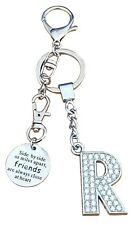 "AM Landen Alphabet R ""Friends Are Always Close at Heart"" Letter R Keychain"