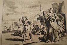 GRAVURE SUR CUIVRE LA MANNE DU CIEL-BIBLE 1670 LEMAISTRE DE SACY  (B36)