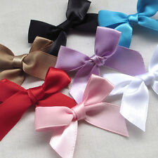 50pcs Mini Satin Ribbon Flowers Bows Gift DIY Craft Wedding Decoration U pick M5