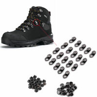 Set of 20X Boot Hooks Lace Fittings With Rivets Camp Hiking Climb Repair Buckles