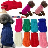 XXXS/XXS/XS Knitted Dogs Sweater Pets Puppy Clothes Jumper Chihuahua Teacup USA