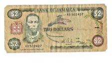 Vintage Bank of Jamaica $2 bank note, Paul Bogle
