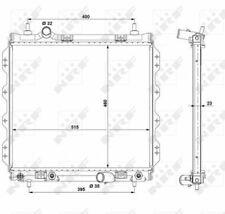 CHRYSLER PT CRUISER 2.0 Radiator 00 to 10 ECC Coolant NRF 05017404 05017404AA