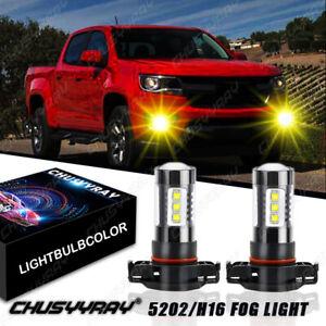 5202 2504 LED Fog Driving Light Bulbs for Chevy Silverado 1500 2007-2015 Yellow