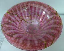 Mayauel Ward Signed Blown Glass Cobweb Bowl