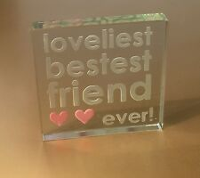 Spaceform Best Friend Glass Token Friendship Birthday Gift Ideas For Her 0981