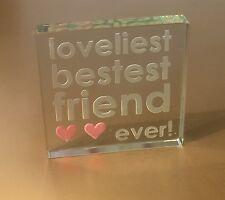 Spaceform Best Friend Glass Token Friendship Birthday Gift Ideas For Her 0981