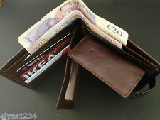 Real Soft Leather Wallet for Men, 6 Credit card slots, inner zip & Coin Pocket
