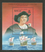 Solomon Is 2006 Christopher Columbus ss--Attractive Ship Topical (1051A) MNH