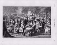 1876 Antique Print - FINE ART PICTURE MAY FAIR HYDE PARK SKETCH CHILDREN  (209)