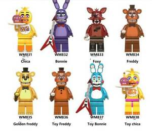 8er Five Nights at Freddy's  Action Figures Collection Toy Freddy 4.5cm