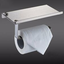 Bathroom Stainless Steel Roll Paper Holder with Phone Holder Stand Shelf