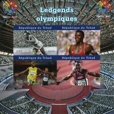 More details for chad olympics stamps 2020 mnh olympic legends usain bolt jesse owens 4v impf m/s