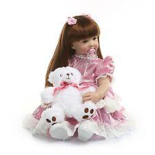 24''60cm  Reborn Toddler Dolls Cute Lifelike Bebe Silicone Vinyl Detail Painting