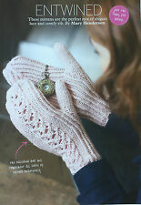 KNITTING PATTERN Ladies Lace & Ribbed Patterned Mittens Gloves Sublime PATTERN