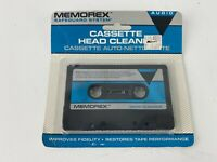 Vintage Memorex Audio Cassette Head Cleaner   Safeguard System NOS Factory Seal