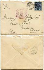GB to COLORADO DENVER CLUB CHRISTMAS DAY 1897 POSTMARK + CACHET