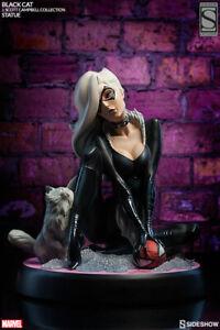 NIB Sideshow Collectibles J Scott Campbell Black Cat Comiquette Statue Spiderman