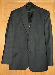 Herren Sakko Versace Schwarz Grau gestreift  (4)