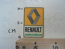 RENAULT MOTOCULTURE VINTAGE IRON TRANSFERS PATCHES,STRIJK EMBLEEM ? CAR A