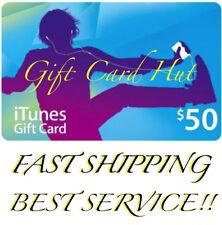 Apple $50 US iTunes Gift Card Card Voucher Certificate US USD 100% Genuine