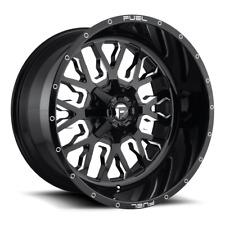 (4) 20x12 Fuel Gloss Black & Mill Stroke Wheels 6X135 & 6X139.7 For Toyota Jeep