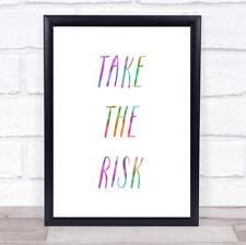 Asumir el riesgo de impresión de cotización de arco iris