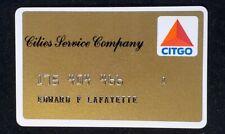 Cities Service Company CITCO credit card ♡Free Shipping♡ cc1357